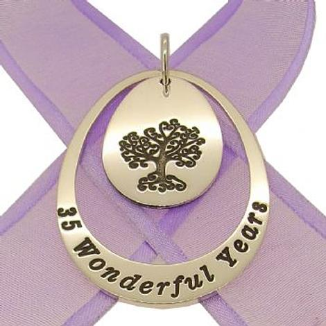 STERLING SILVER 35mm OVAL PERSONALISED FAMILY TREE OF LIFE NAME PENDANT -35mm-JSO1-jr-ss