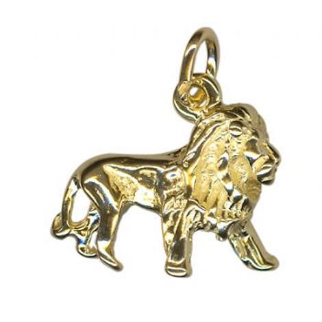 9CT YELLOW GOLD 3 DIMENSIONAL LION CHARM PENDANT