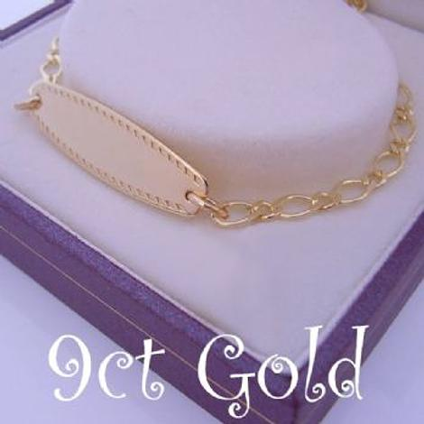 9CT GOLD IDENTITY BRACELET FOR BABY AND CHILD