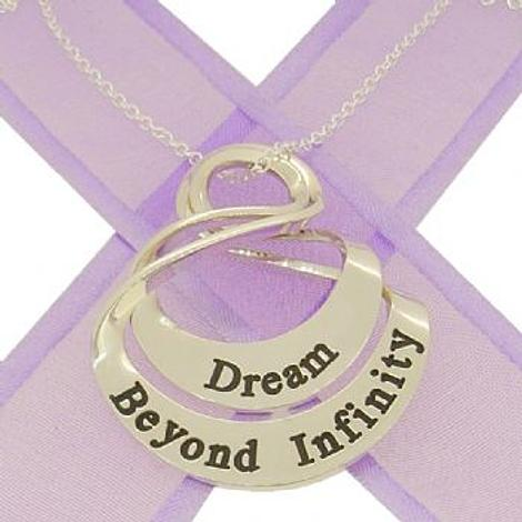 COUPLED 25mm 35mm OVAL MOBIUS INFINITY PERSONALISED NAME PENDANTS -25mm-35mm-MobInf