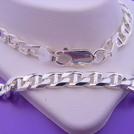 STERLING SILVER UNISEX 55cm ANCHOR MARINE NECKLACE