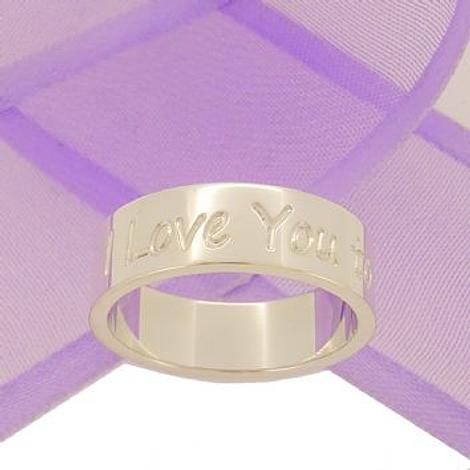 STERLING SILVER 6mm ENGRAVED DESIGN PERSONALISED LOVE RING LARGER SIZES -R-6mm-SS-P474-7