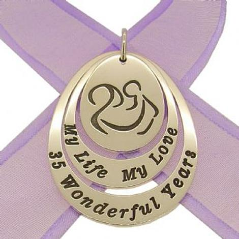 COUPLED OVAL CIRCLE OF LIFE PERSONALISED MOTHER HOLDING BABY FAMILY NAME PENDANT -27mm-35mm-JSO5-jr-ss