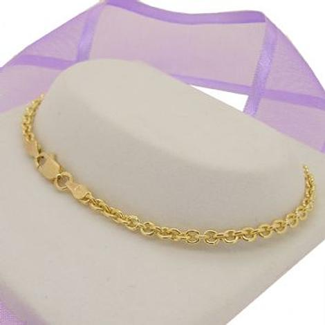 9CT YELLOW GOLD 3mm CABLE BRACELET