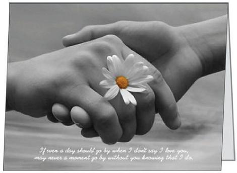 Free Gift Folded Card I Love You Flower