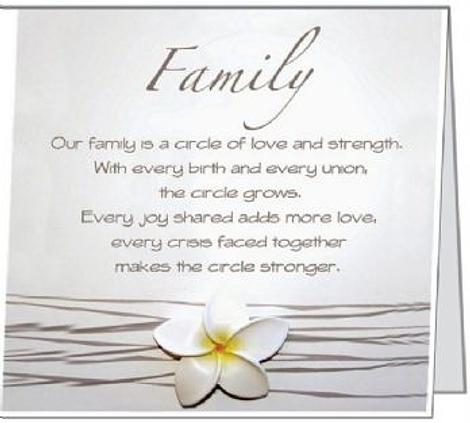 Free Gift Folded Card Our Family