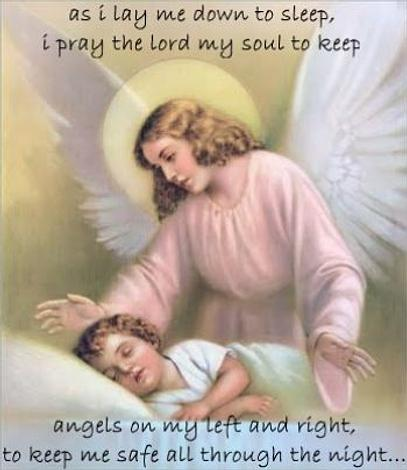 Free Gift Folded Guardian Angel as i lay me down to sleep