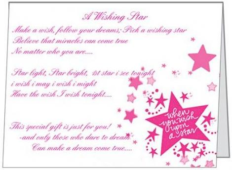 Free Gift Folded Wish Upon a Star