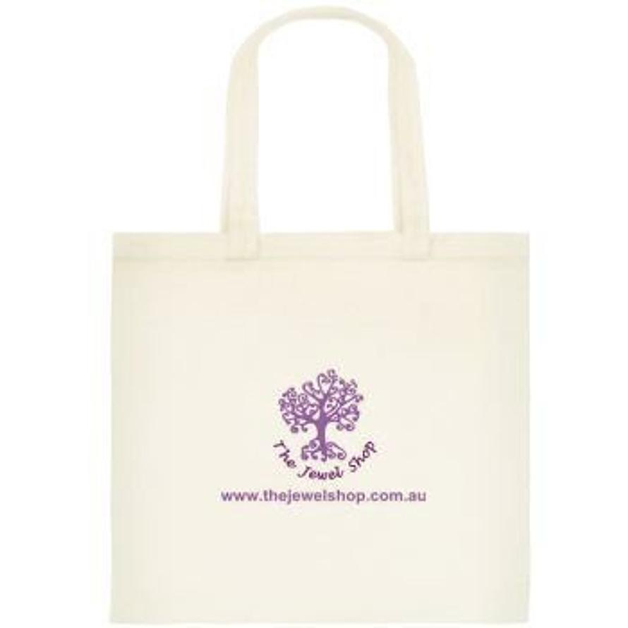 FREE GIFT OFFER CANVAS JEWEL SHOP LOGO TOTE SHOPPING BAG