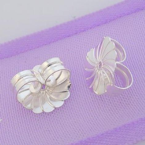 STERLING SILVER 9mm LARGE BUTTERFLY CLIPS FOR STUD EARRINGS -SS_F_925_34-533-30