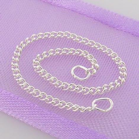 1.4mm CURB STERLING SILVER SAFETY CHAIN BRACELET 80mm - F_SS_SC_C40
