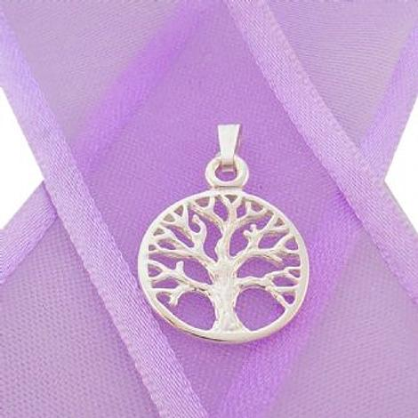 STERLING SILVER 14mm TREE OF LIFE CHARM PENDANT - CP-925-54-706-10094