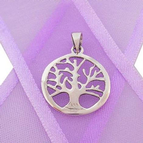 STERLING SILVER 16mm TREE OF LIFE CHARM PENDANT - CP-925-17-1063-238