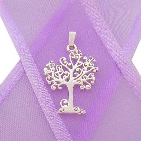STERLING SILVER 14mm x 20mm TREE OF LIFE CHARM PENDANT