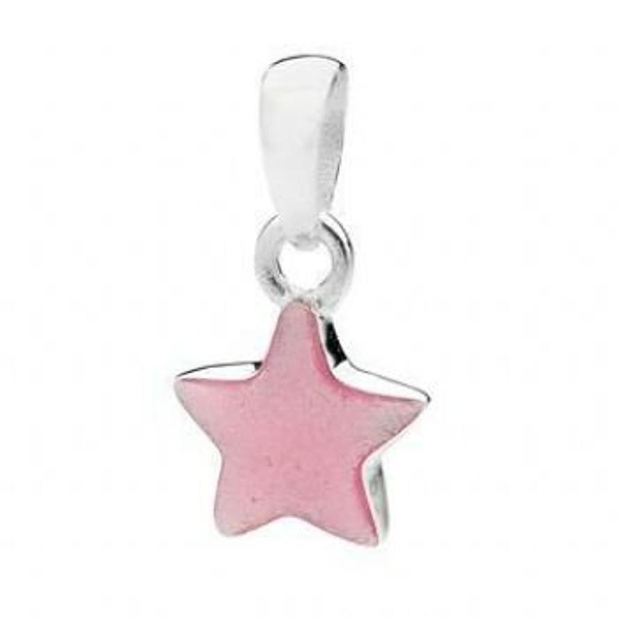 PASTICHE STERLING SILVER BABY PINK STAR CHARM PENDANT