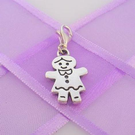 STERLING SILVER 13mm x 20mm FAMILY WOMAN MUM MOTHER CLIP ON CHARM - TI-03505