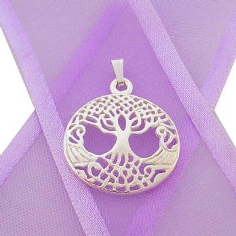 STERLING SILVER 18mm CELTIC TREE OF LIFE CHARM PENDANT - CP-925-KB53