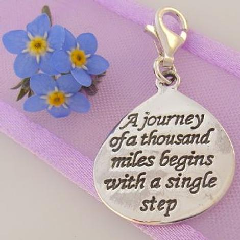STERLING SILVER JOURNEY BEGINS SINGLE STEP CLIP ON CHARM -925-54-706-9804