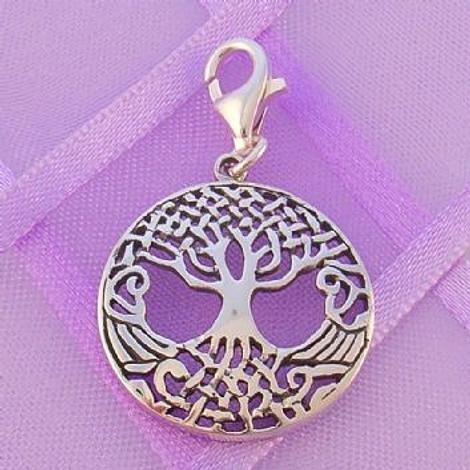 STERLING SILVER 18mm CELTIC TREE OF LIFECLIP ON CHARM -925-54-706-10145