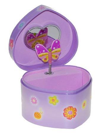 Heart Flower Butterfly Jewellery Box