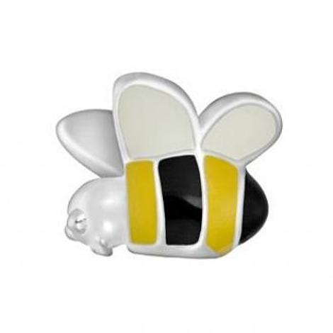 STERLING SILVER PASTICHE PETITE BUMBLE BEE BEAD CHARM -XE010