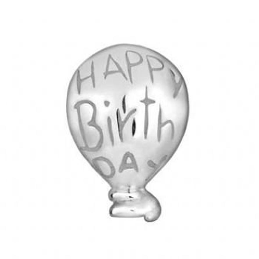 STERLING SILVER PASTICHE PETITE HAPPY BIRTHDAY BALLOON BEAD CHARM -XT128