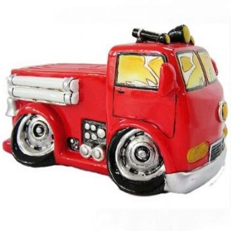 RED FIRE TRUCK MONEY BOX -MBC3