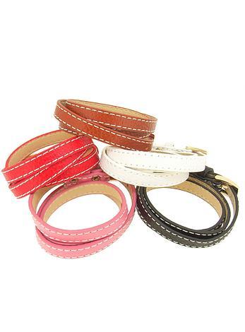 Triple 10mm Leather Cuff Wrap Bracelet