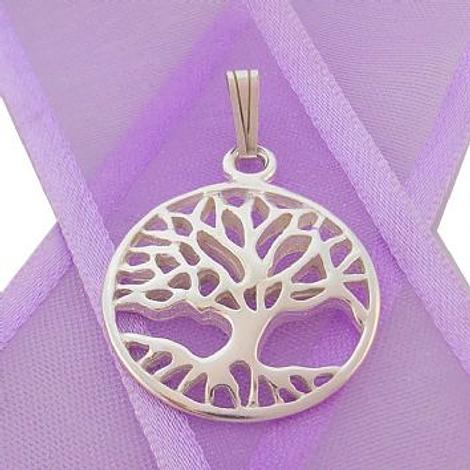 STERLING SILVER 20mm TREE OF LIFE CHARM PENDANT - CP-925-KB48