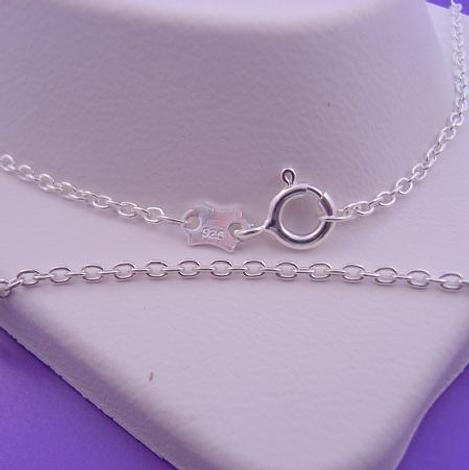 60CM UNISEX STERLING SILVER CABLE TRACE NECKLACE CHAIN