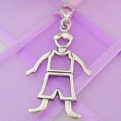 STERLING SILVER 18mm x 32mm FAMILY MAN DAD FATHER CLIP ON CHARM - 925-54-706-4823DAD
