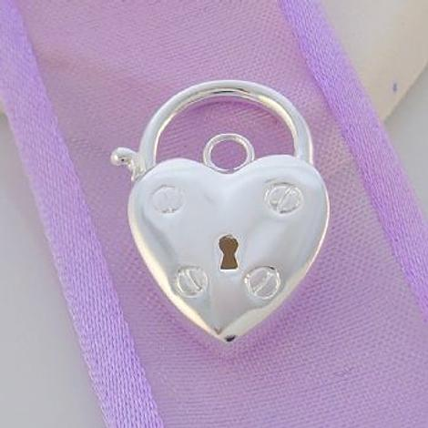STERLING SILVER ENGLISH STYLE PADLOCK 14mm x 21mm