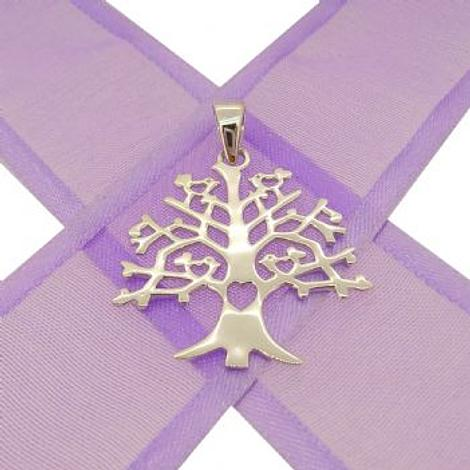 STERLING SILVER 24mm TREE OF LIFE CHARM PENDANT -CP-KB85-SS