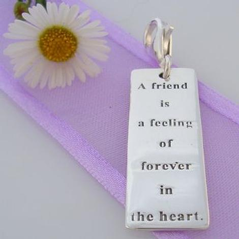 STERLING SILVER FOREVER FRIEND MESSAGE CLIP ON CHARM 925-54-706-9056