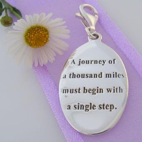 STERLING SILVER JOURNEY BEGINS MESSAGE CLIP ON CHARM 925-54-706-9054