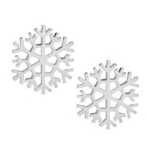 PASTICHE STERLING SILVER 9mm SNOWFLAKE STUD EARRINGS