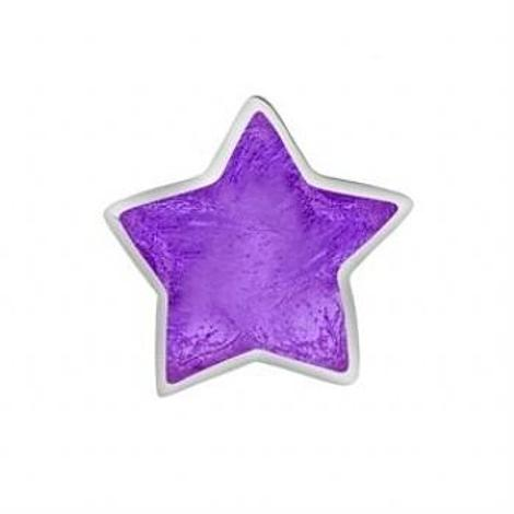 STERLING SILVER PASTICHE PETITE PURPLE WISHING STAR BEAD CHARM -XE033PU