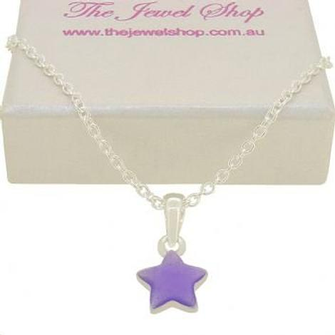 PASTICHE STERLING SILVER LAVENDER STAR CHARM NECKLACE