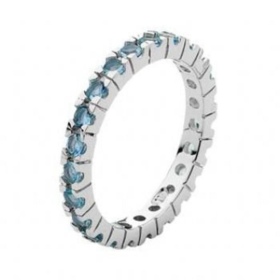 PASTICHE STERLING SILVER BLUE CZ ETERNITY RING -R582BTCZ