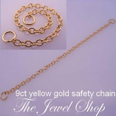 9CT YELLOW GOLD 1.4mm CABLE SAFETY CHAIN -FINDING_9CT_SC_CA40
