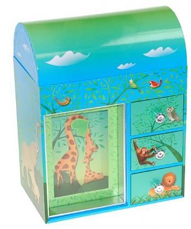 MUSICAL JUNGLE ZOO ANIMALS MUSIC JEWELLERY BOX #6