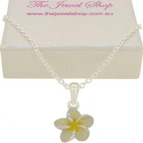 PASTICHE STERLING SILVER FRANGIPANI FLOWER CHARM NECKLACE