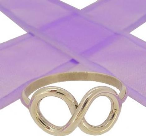 STERLING SILVER INFINITY SYMBOL DESIGN CHARM RING