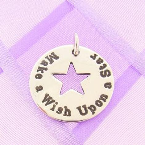 PERSONALISED CIRCLE STAR PENDANT Make a wish upon a star