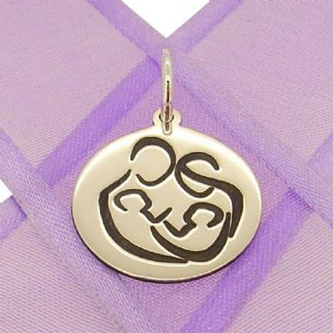 18mm STERLING SILVER ROUND FAMILY of FOUR COIN PENDANT