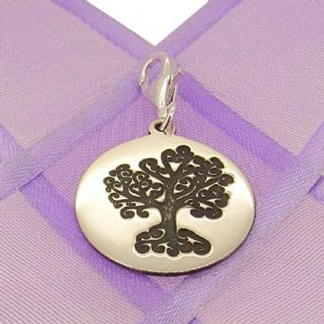 18mm ROUND FAMILY TREE OF LIFE COIN CLIP ON CHARM