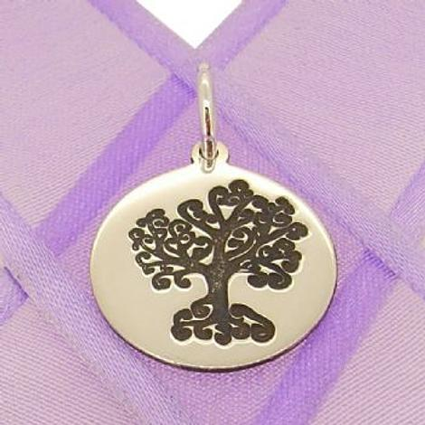 18mm ROUND FAMILY TREE OF LIFE COIN PENDANT -18mm-SS-coin-JSR1