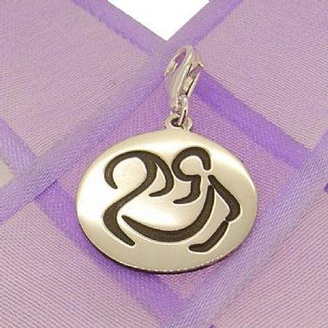 18mm ROUND MOTHER HOLDING BABY COIN PENDANT -18mm-SS-coin-JSR5=PCT