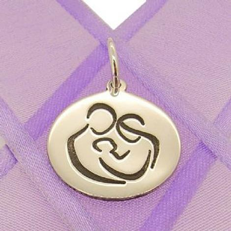 18mm ROUND MUM DAD BABY COIN PENDANT -18mm-SS-coin-JSR3