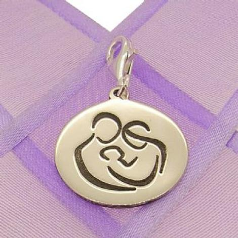 18mm ROUND MUM DAD BABY COIN PENDANT -18mm-SS-coin-JSR3-PCT